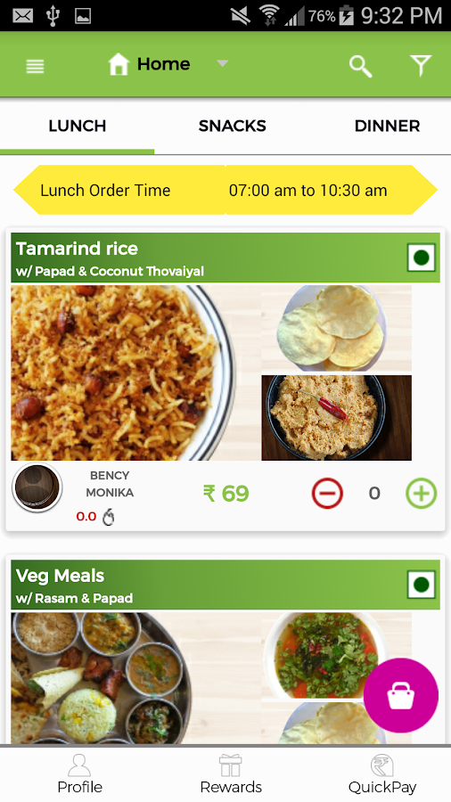 Fooddoo - Home Cooked Food- screenshot