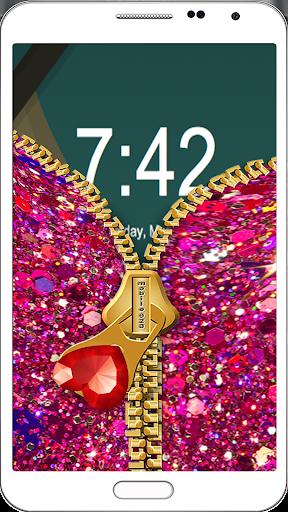 玩免費遊戲APP|下載Nail Giltter Zipper LockScreen app不用錢|硬是要APP