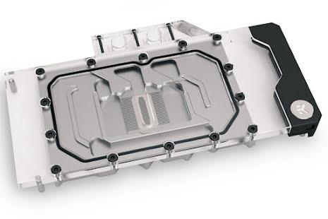 EK vannblokk for skjermkort, EK-Quantum Vector RE RTX 3080/3090 D-RGB - Nickel + Plexi