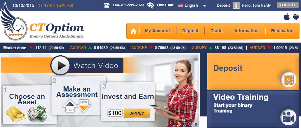 CToption Home Page