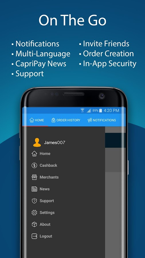 CapriPay- screenshot