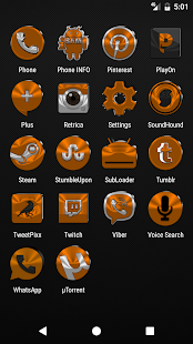 Orange Icon Pack v4.0 - náhled