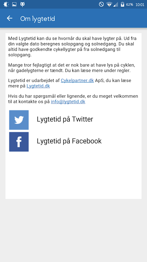 Lygtetid- screenshot