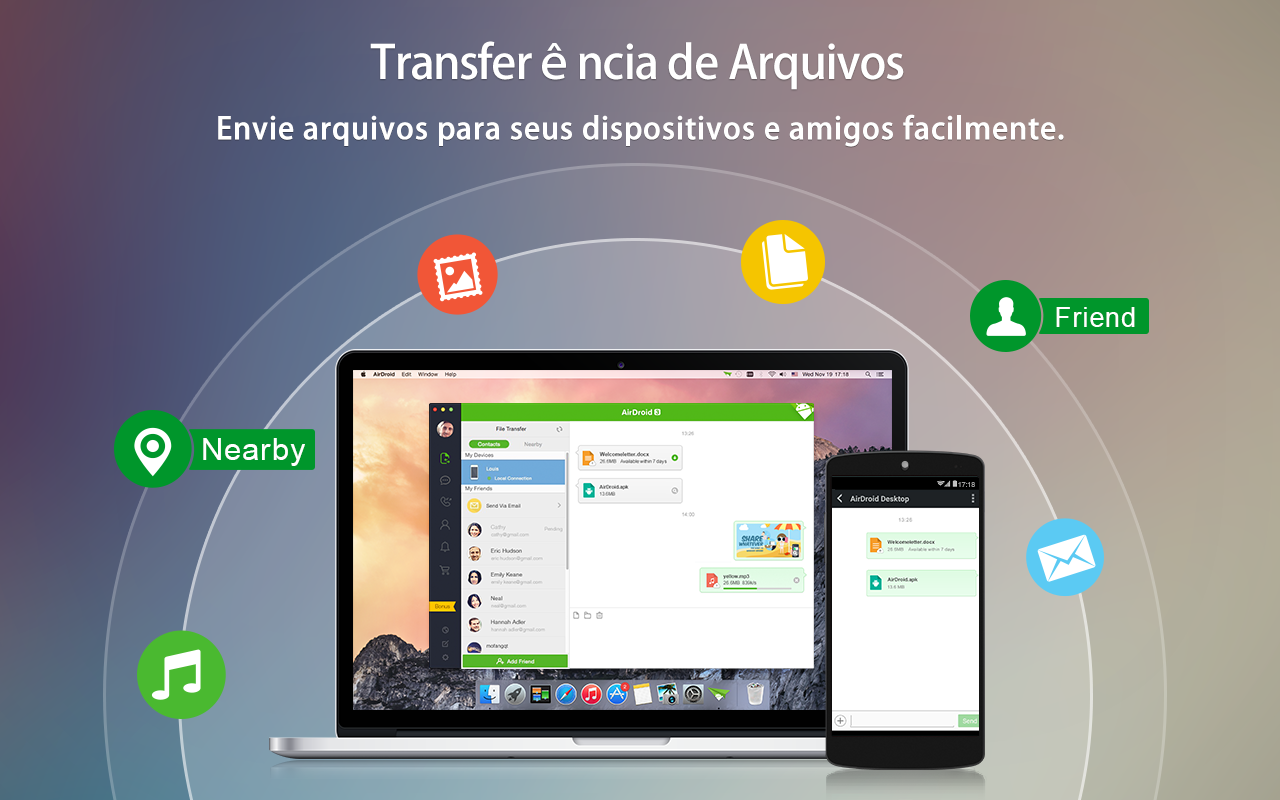 AirDroid - Android on Computer: captura de tela