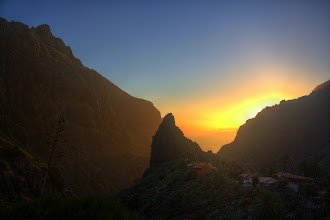 Photo: Sunset in Masca, Tenerife.