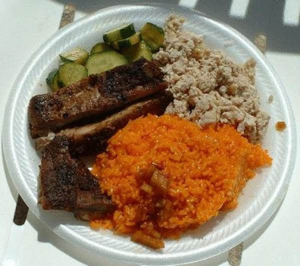 My Favorite Way To Eat It: With Bbq Spareribs, Chamorro Cucumber Salad, And Kelaguen!