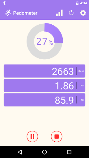 Pedometer screenshot 1