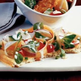 Fitness-Salat auf Pizzafladen