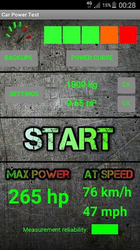 CarPowerTest - Engine power