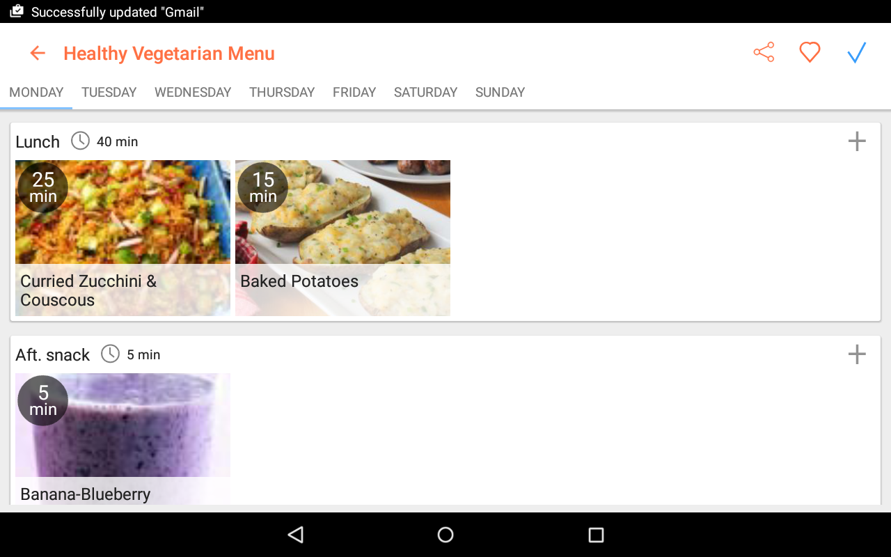 Recipe Calendar - Meal Planner- screenshot
