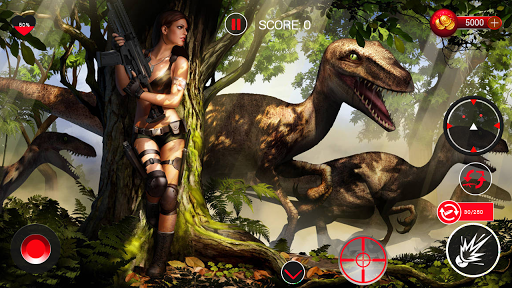 Dinosaurs Hunter Challenge jungle Safari Adventure - screenshot