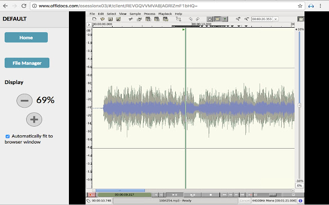 Audio and Music editor online Sweep