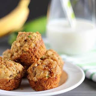 Healthy Banana-Zucchini Mini Crumb Muffins.