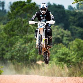 FlyHigh by Vijay Tripathi - Sports & Fitness Motorsports ( rider, bike, motocross, motorbike, dirt road )