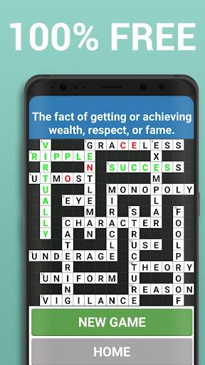 Crossword Puzzle Free Classic Word Game Offline screenshots 7