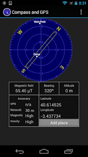 Kompas a GPS - náhled