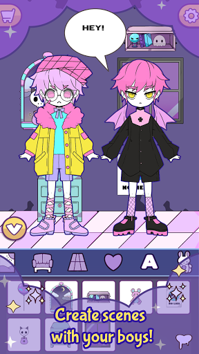 BatDoll Pastel goth dress up boy APK MOD (Astuce) screenshots 6