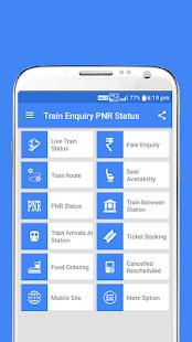 Train Enquiry PNR Status - náhled