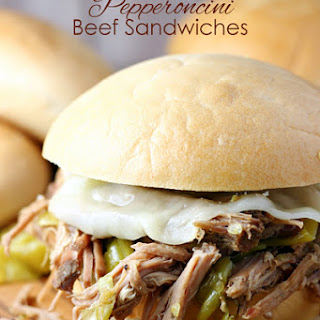 Slow Cooker Pepperoncini Beef Sandwiches Recipe