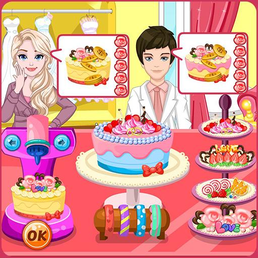 Wedding cake factory Icon