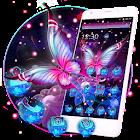 Glowing Purple Butterfly Theme icon