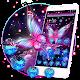 Glowing Purple Butterfly Theme apk