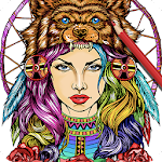 Colorart: Masterpiece Coloring Page for Grown-Ups Icon