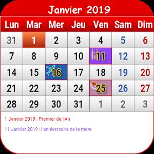 Calendrier Francais 2019.Francais Calendrier 2019 For Pc Windows Mac Techwikies Com
