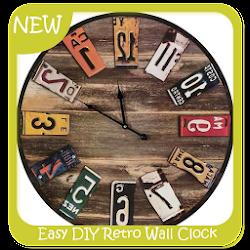Easy DIY Retro Wall Clock