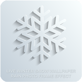 Live Winter Snow Wallpaper Rain Photo Frame Effect