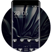 Smooth dark black business theme for galaxy Note 8