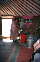 Photo: 03121 ウランバートル/牧民の家/ゲル内部