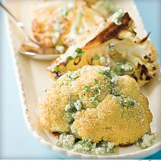 Roasted Cauliflower With Blue Cheese Dressing