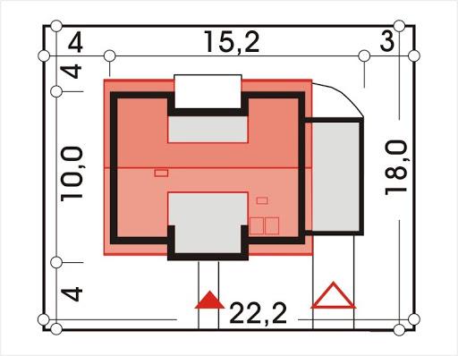 Adaś wersja B z pojedynczym garażem - Sytuacja