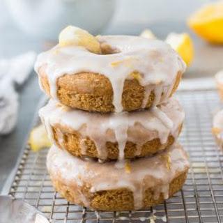 Lemon Glazed Baked Donuts.