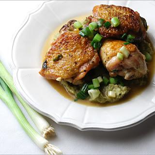 Braised Chicken with Scallion Purée