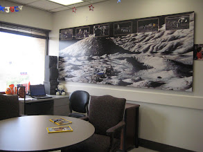 Photo: One of the common rooms on the NASA ward, with a Lunar mural