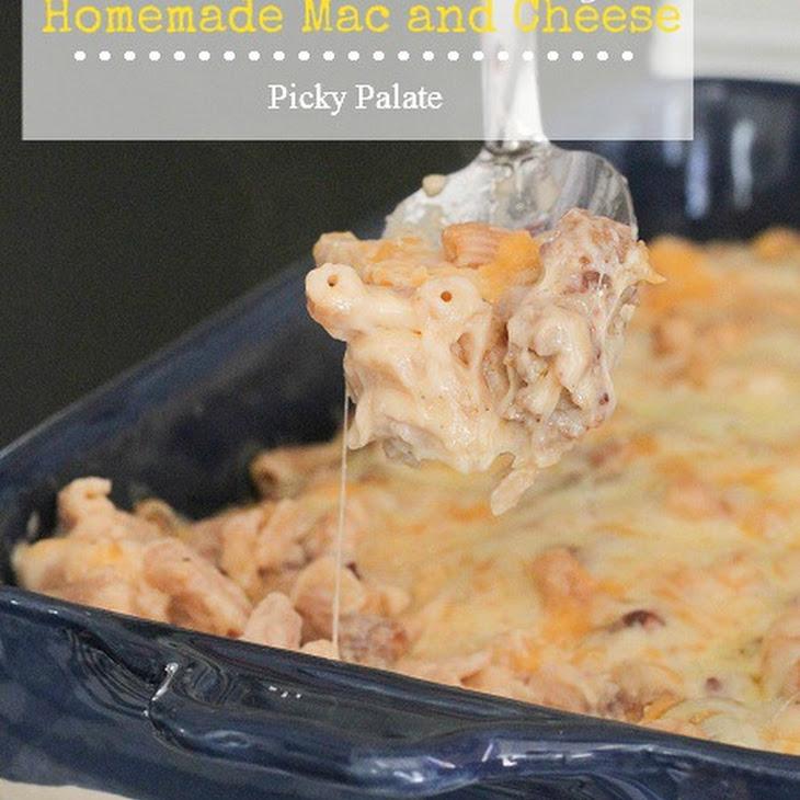 Three Cheese and Sausage Homemade Mac and Cheese Recipe