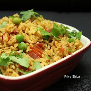 Tomato Pulao / Thakkali Sadam Recipe