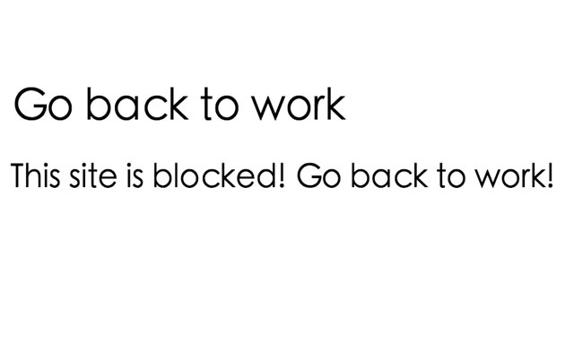Go back to work