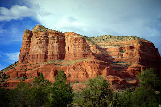 Photo: The first shot as we arrived in Sedona: Courthouse Rock.