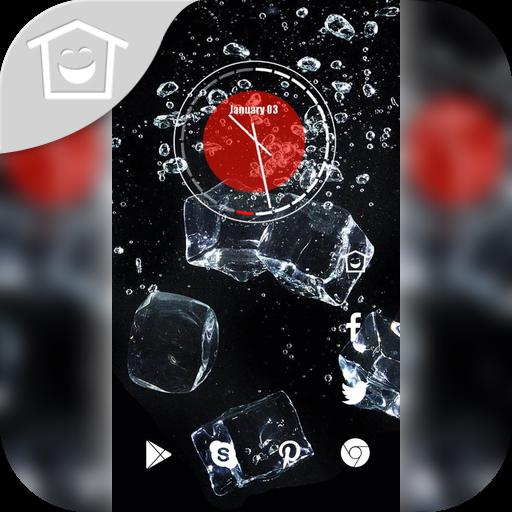 黑色空间冰块主题 個人化 App LOGO-硬是要APP