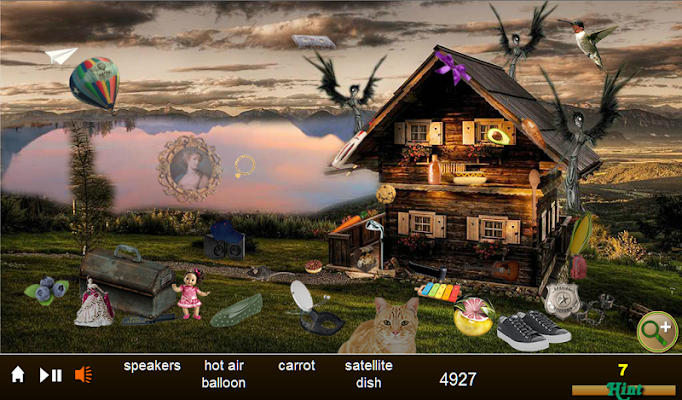 Hidden Object Lakeside Cabin - screenshot