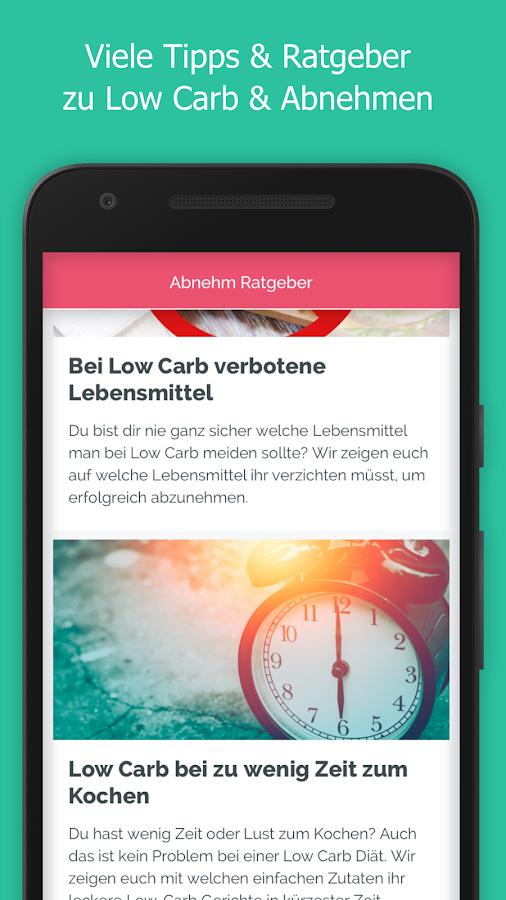 Abnehm App Low Carb Rezepte Diat Ernahrungsplan Android Apps Download