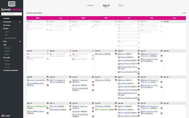 Torrent Links for Episode Calendar