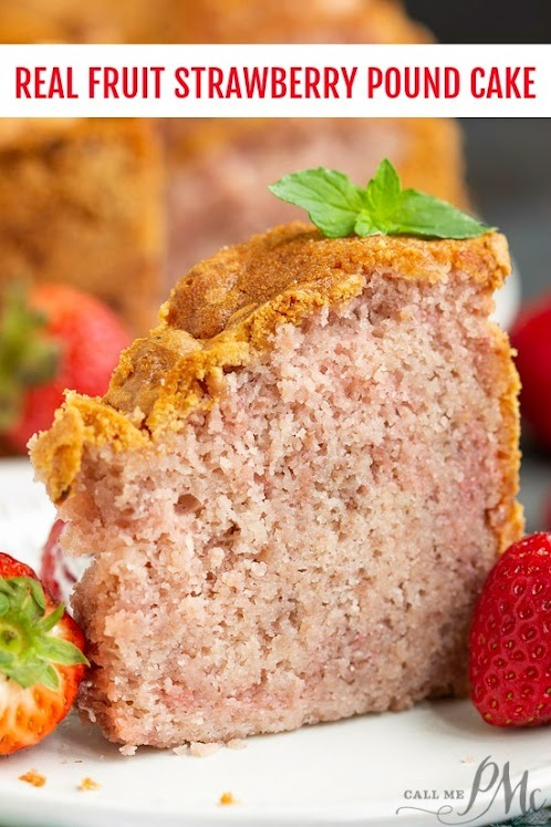 Real Fruit Strawberry Buttermilk Pound Cake