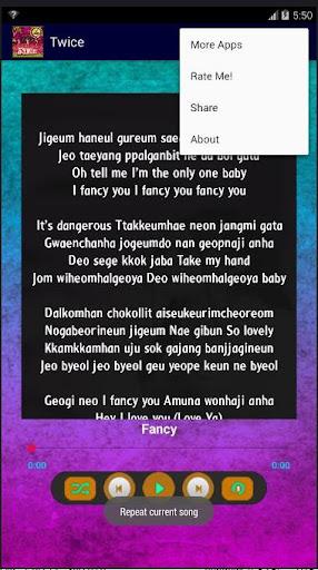 TWICE song 'Fancy' Offline K-pop Lyrics screenshots 3