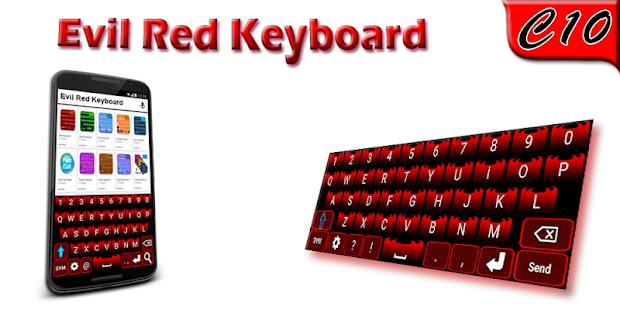 Evil Red Keyboard - náhled