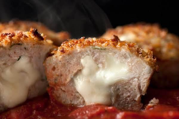 Individual Cheesy Turkey Meatloaf  Bites