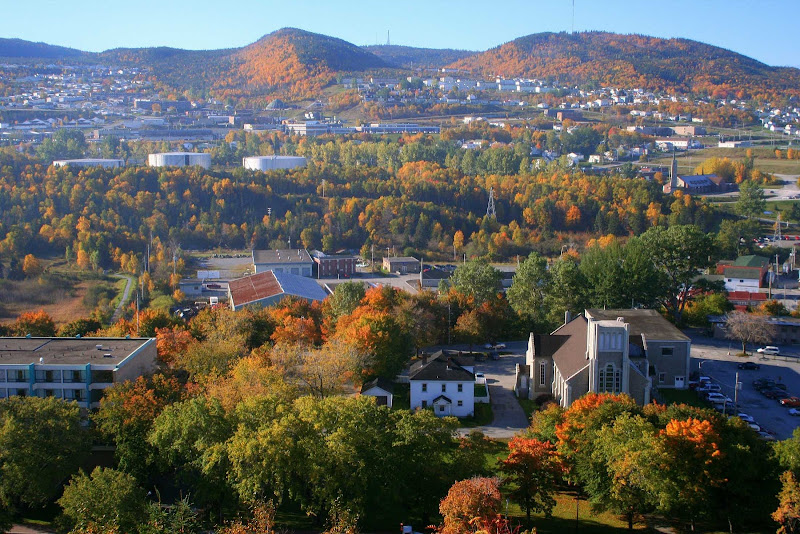 A fall day in Corner Brook, Newfoundland, Canada.